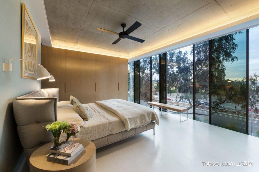 卧室黑色推拉门现代风格装修效果图