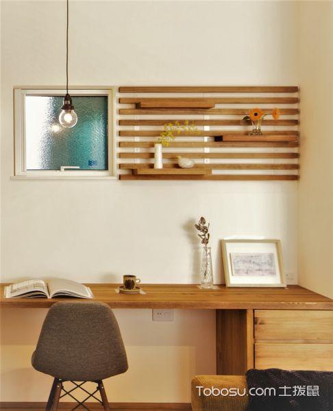 客厅黄色书桌现代风格装修设计图片