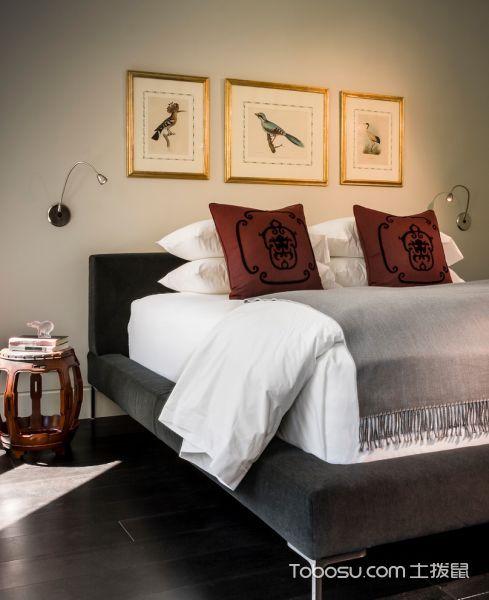 卧室灰色地板砖现代风格装饰效果图