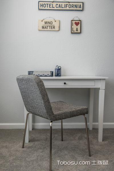 卧室灰色地板砖现代风格装修设计图片