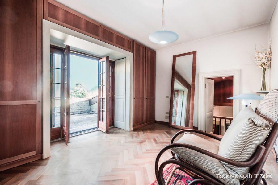 卧室咖啡色沙发现代风格装修图片