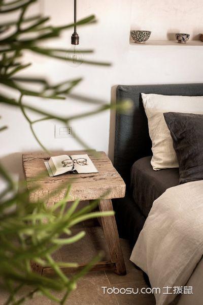 卧室咖啡色床头柜地中海风格装饰图片