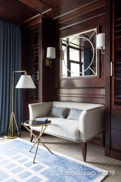 书房白色沙发现代风格装修图片
