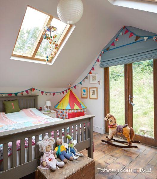 儿童房混搭风格效果图大全2017图片