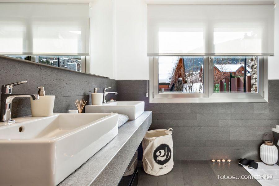 卫生间白色北欧风格装修设计图片