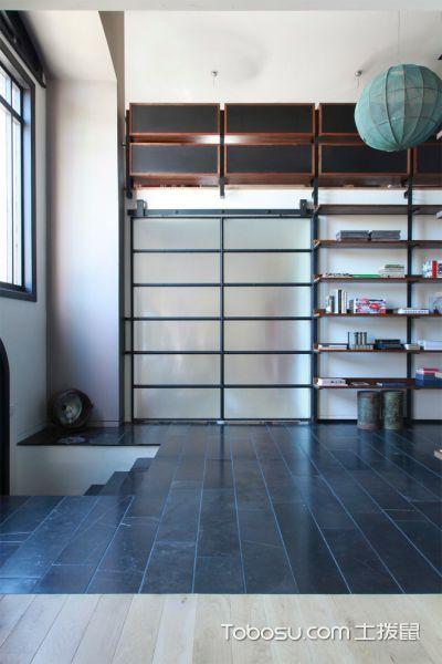 书房黑色地砖现代风格装修图片