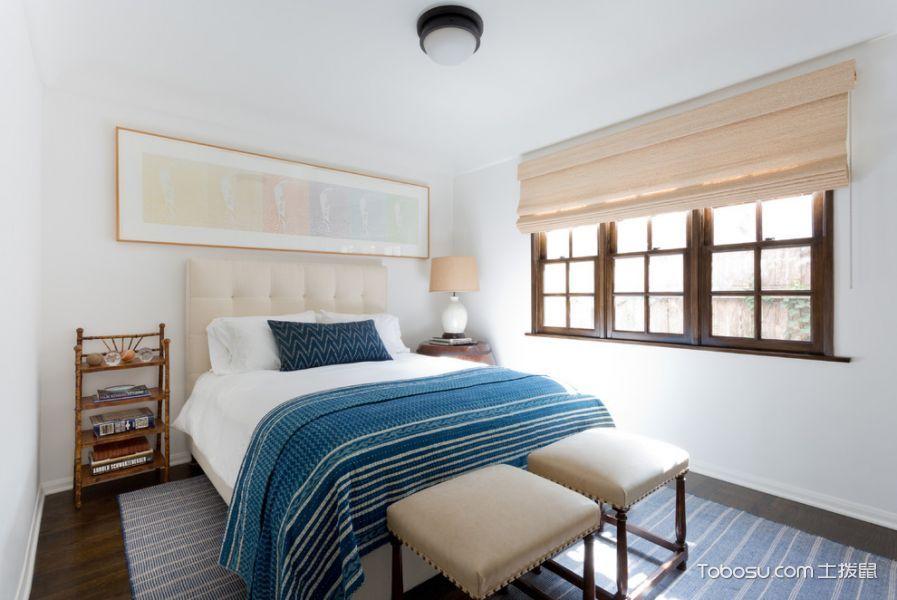 卧室米色窗帘地中海风格装修设计图片