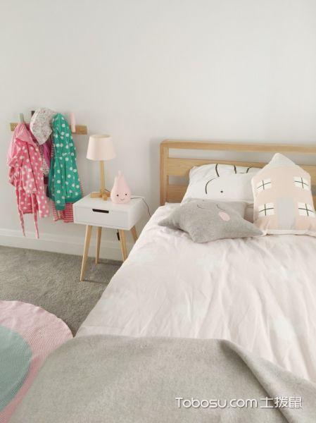儿童房白色床头柜北欧风格装饰设计图片