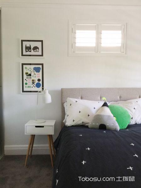儿童房白色床头柜北欧风格装修图片