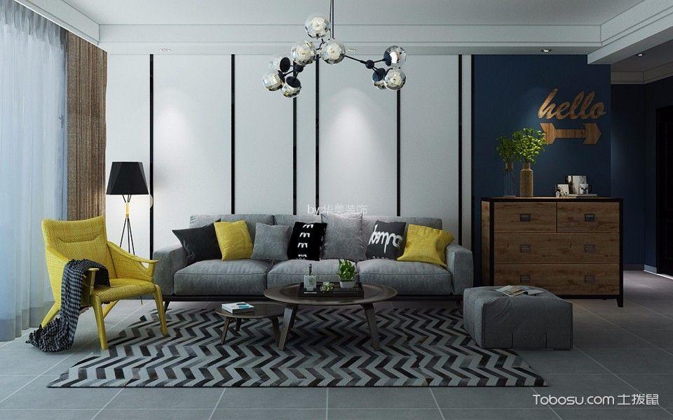 170平北欧风格3室2厅2卫1厨装修效果图