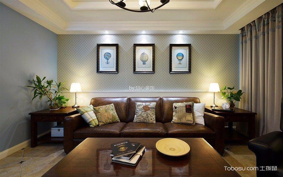 龙湖春江紫宸109平米美式混搭三居室装修效果图