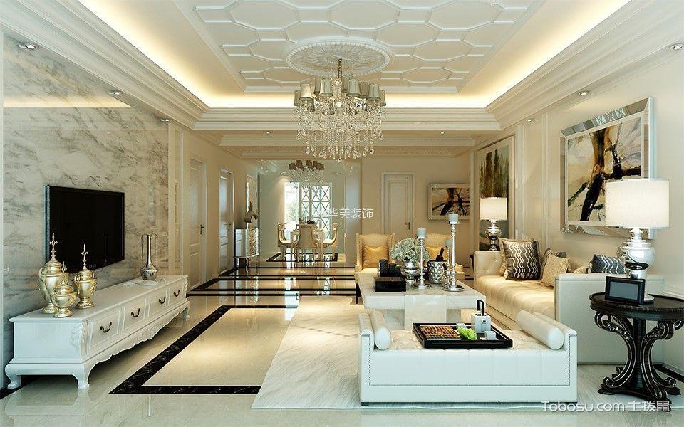 152平现代简约风格3室2厅2卫1厨装修效果图