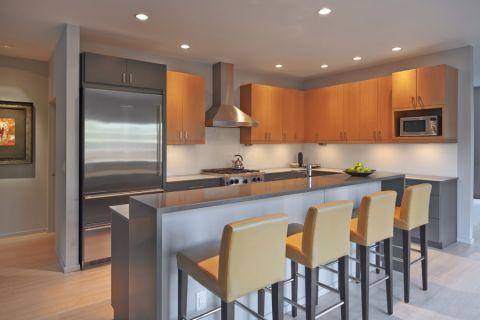 厨房现代风格效果图大全2017图片_土拨鼠优雅优雅厨房现代风格装修设计效果图欣赏