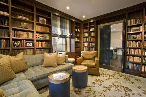 书房现代风格效果图大全2017图片_土拨鼠美感唯美书房现代风格装修设计效果图欣赏