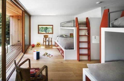 儿童房现代风格效果图大全2017图片_土拨鼠潮流淡雅儿童房现代风格装修设计效果图欣赏