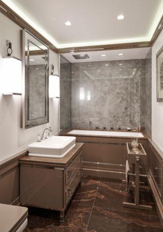 浴室洗漱台现代风格装潢设计图片