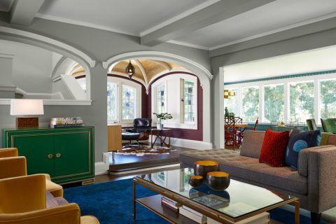 客厅混搭风格效果图大全2017图片_土拨鼠美感自然餐厅混搭风格装修设计效果图欣赏