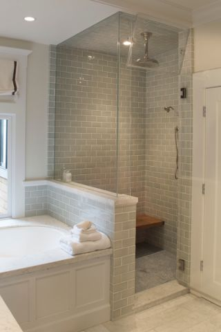 浴室背景墙美式风格装潢效果图