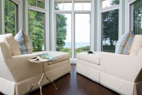 客厅落地窗混搭风格装饰图片