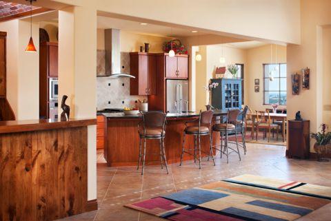 厨房混搭风格效果图大全2017图片_土拨鼠浪漫雅致厨房混搭风格装修设计效果图欣赏