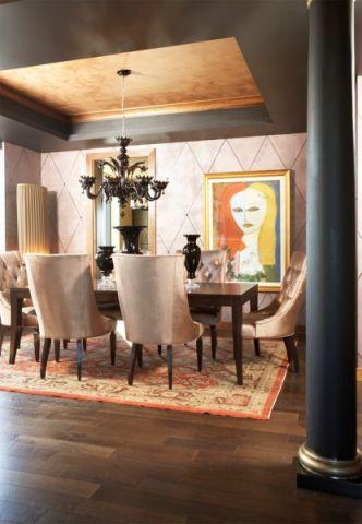 餐厅吊顶混搭风格装饰效果图