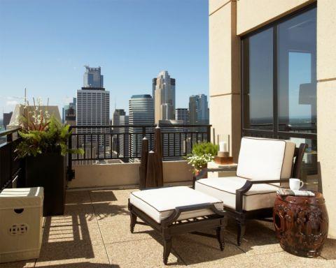 阳台地砖混搭风格装潢设计图片
