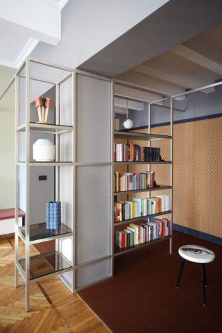 客厅书架混搭风格装修效果图