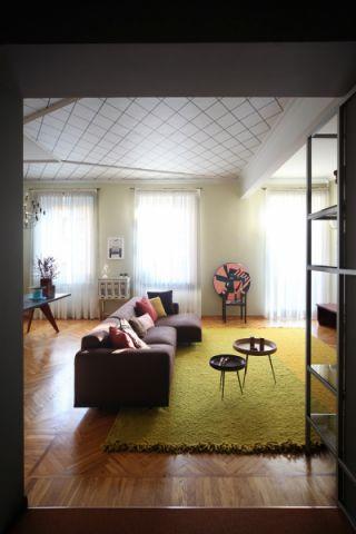 客厅混搭风格效果图大全2017图片_土拨鼠优雅淡雅客厅混搭风格装修设计效果图欣赏