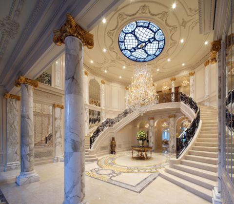 玄关门厅美式风格装修设计图片