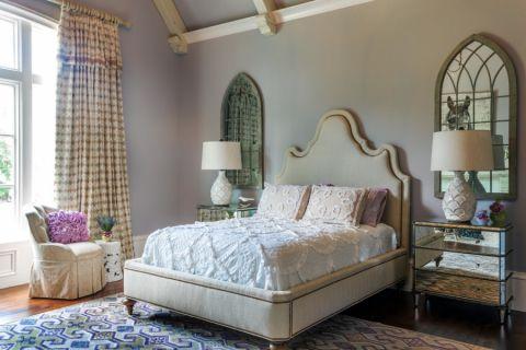 卧室床地中海风格装饰效果图