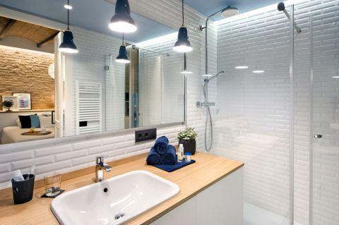 浴室洗漱台地中海风格效果图