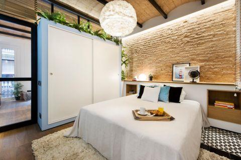 卧室床地中海风格装饰图片