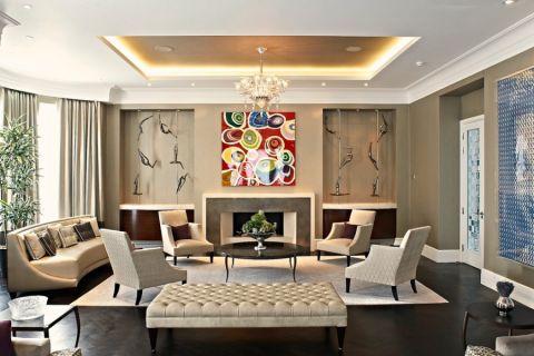 客厅现代风格效果图大全2017图片_土拨鼠唯美清新阳光房现代风格装修设计效果图欣赏