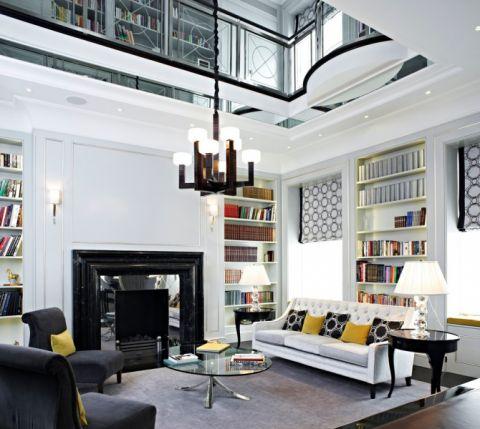 客厅吊顶现代风格装潢效果图