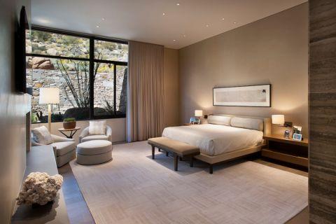 卧室现代风格效果图大全2017图片_土拨鼠温暖格调卧室现代风格装修设计效果图欣赏