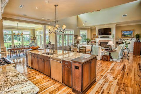 厨房美式风格效果图大全2017图片_土拨鼠干净风雅厨房美式风格装修设计效果图欣赏