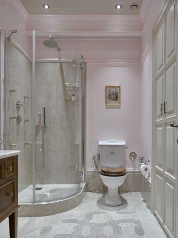 浴室地砖美式风格装潢设计图片