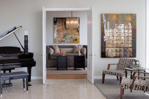 客厅地砖现代风格装饰图片