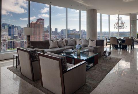 客厅现代风格效果图大全2017图片_土拨鼠清新时尚客厅现代风格装修设计效果图欣赏