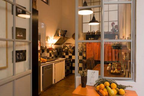 厨房吊顶混搭风格装饰图片