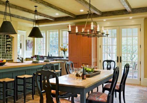 餐厅美式风格效果图大全2017图片_土拨鼠干净温馨橱柜美式风格装修设计效果图欣赏