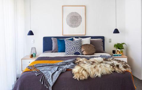 卧室背景墙北欧风格装潢效果图