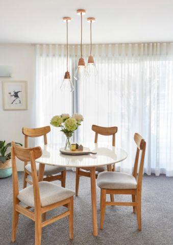 餐厅窗帘北欧风格装修图片