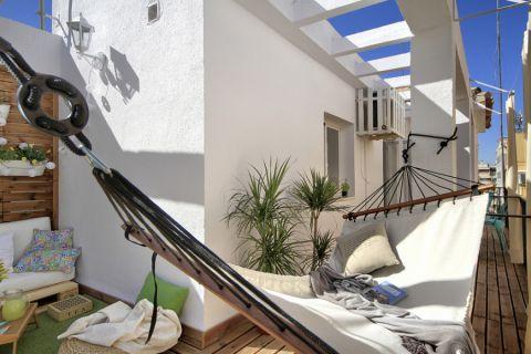 阳台地板砖地中海风格装修图片