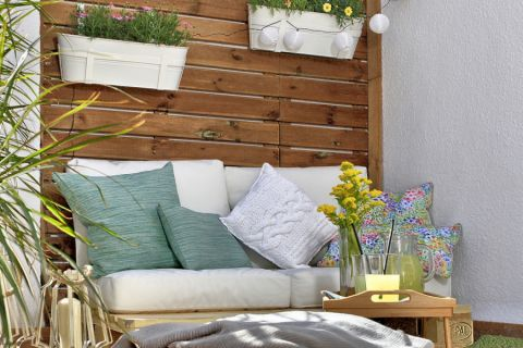 阳台沙发地中海风格装修设计图片