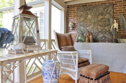 客厅落地窗混搭风格装潢设计图片
