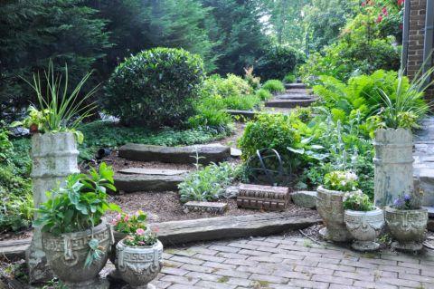 花园地砖混搭风格装修图片