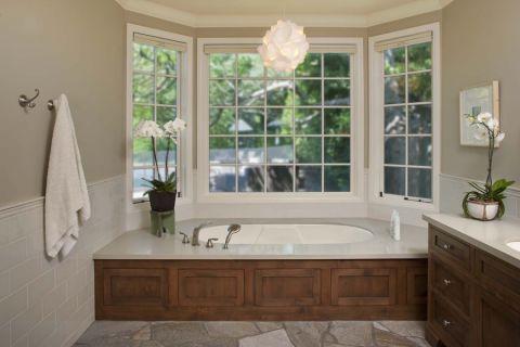 浴室混搭风格效果图大全2017图片_土拨鼠休闲奢华浴室混搭风格装修设计效果图欣赏