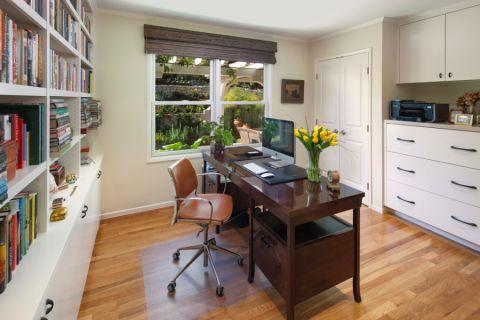书房书桌美式风格装修图片
