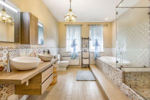 浴室吊顶混搭风格装潢效果图